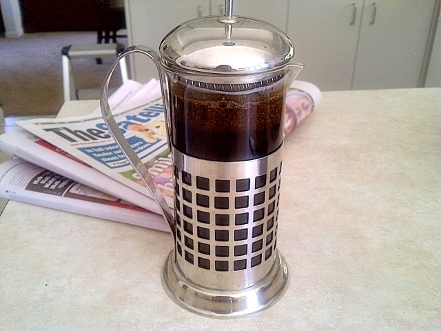 Coffee press or plunger