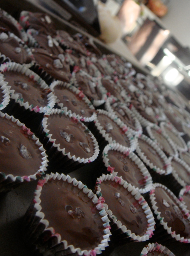 Homemade choclairs ready to be refrigerated