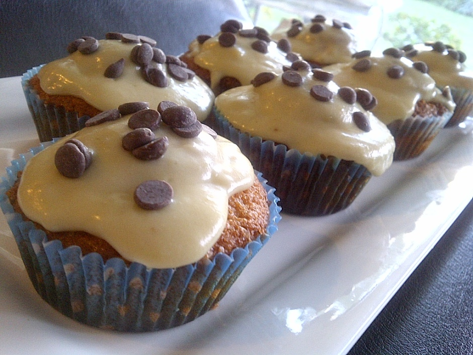 Brown butter cupcakes filled with cookie dough and topped with cookie dough frosting