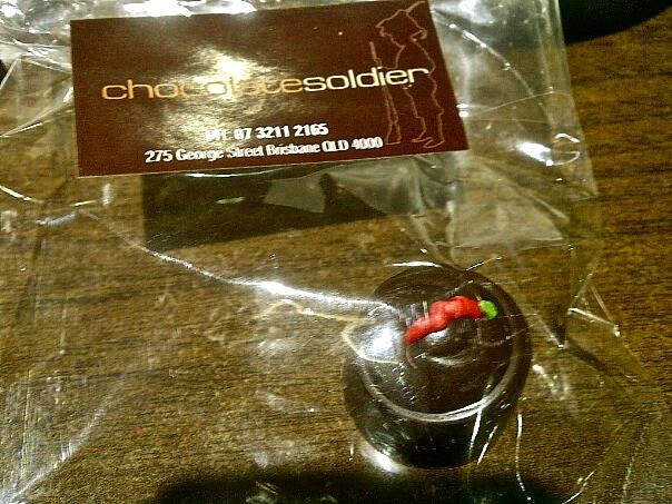 Dark chocolate chilli truffle