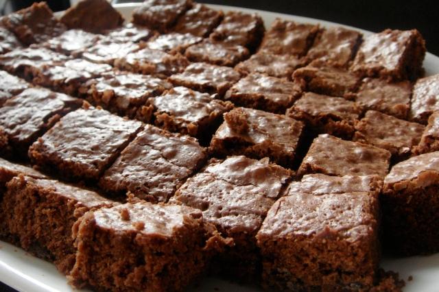 Yummy chocolate brownie pieces