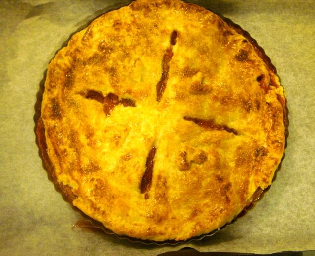 Caramel Boozy Apple & Strawberry Pie