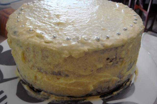 Vegan Chocolate Avocado Cake with Non-Vegan Condensed Milk Frosting