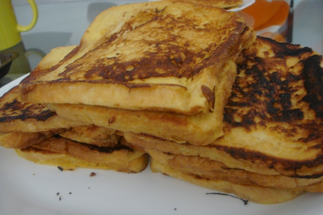 Stacks of French toast, yum!