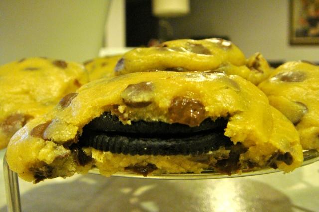 Cookieception: Oreo Stuffed Chocolate Chip Cookies
