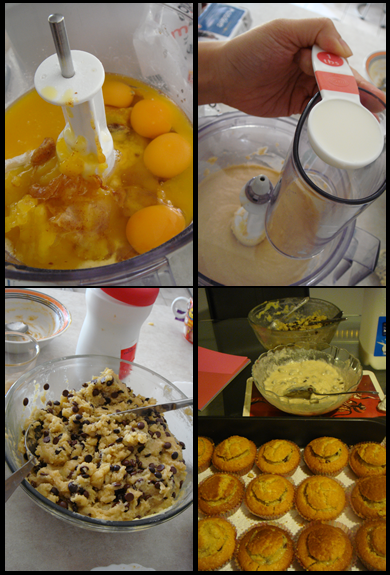 The making of brown butter cupcakes with cookie dough frosting and filling